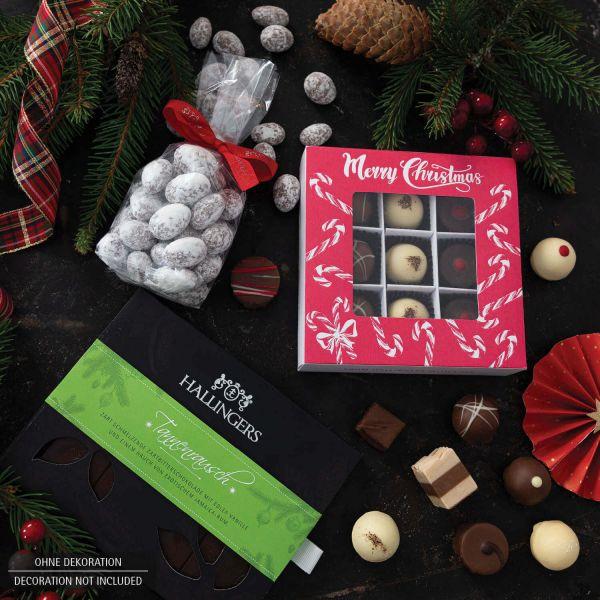 Weihnachts-Geschenk-Set mit Gin, Pralinen & mehr (740g) - Berauschendes Fest (Bundle)