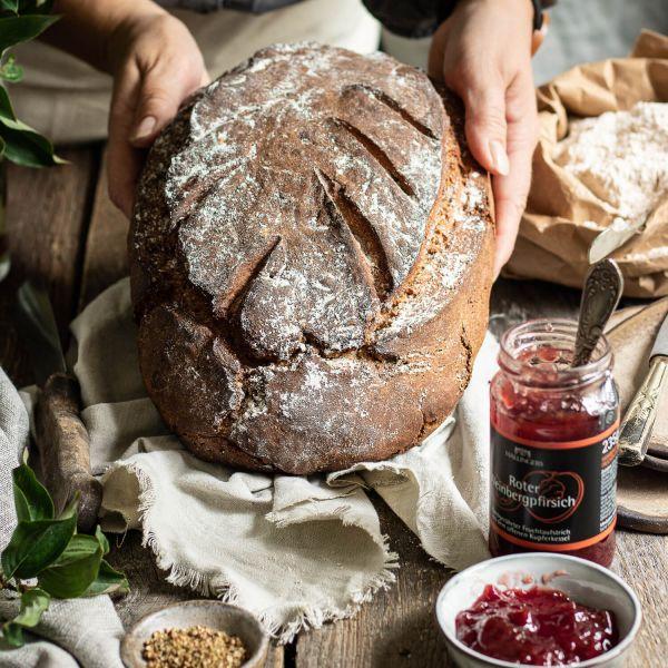 Natürliche Brotbackmischung - 2er Sparpack (2000g) - 2x Bauernbrot - Dinkel & Roggen Brotbackmix (Bundle)