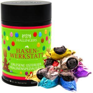 Ostereier Selection - Ostern Pralinen - Osterhasen-Werkstatt - Ostereier aus Schokolade, Oster Schokolade, Edition 2018 | Premiumdose | 150g