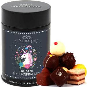 Pralinen Selection Unicorn Einhorn - saisonaler Mix | Premiumdose | 150g