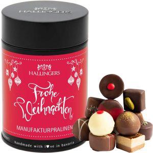 Pralinen Selection Frohes Weihnachtsfest - saisonaler Mix | Premiumdose | 150g
