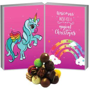 24 Pralinen-Adventskalender, ohne Alkohol (300g) - Unicorn (Buch-Karton)