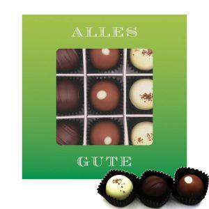 Pralinen 9er-Mix, Alles Gute | Pralinenbox | 108g