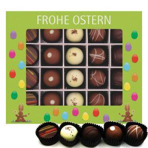 Pralinen Ostern 20er, Frohe Ostern grün | Pralinenbox | 240g