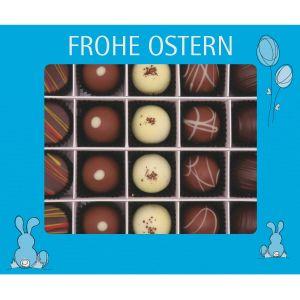 Pralinen Ostern 20er, Frohe Ostern blau | Pralinenbox | 240g