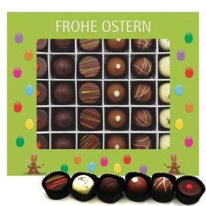 Pralinen Ostern 30er, Frohe Ostern grün | Pralinenbox | 360g