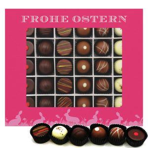 Pralinen Ostern 30er, Frohe Ostern pink | Pralinenbox | 360g
