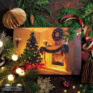 24 Pralinen-Adventskalender, mit/ohne Alkohol (300g) - New York (Advents-Karton)