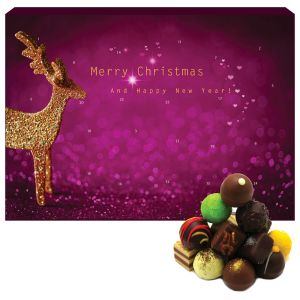 Adventskalender Pralinenkalender Modern | Advents-Karton | 300g
