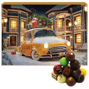24 Pralinen-Adventskalender, mit/ohne Alkohol (300g) - Its Christmas (Advents-Karton)