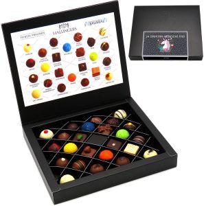 Pralinen-Geschenk 24 Einhorn-Wünsche Frei - 24 Pralinen feinster Schokolade, z.B. für Muttertag, Vatertag, Valentinstag, Geburtstag, Danke | FirstClass-Box | 300g