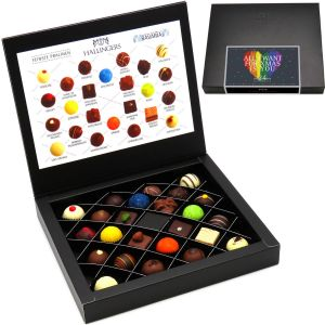 24 Pralinen in edler Geschenk-Box, mit/ohne Alkohol (300g) - All I Want For xMas Is You (FirstClass-Box)