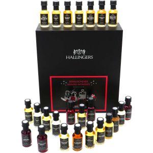 Likör Adventskalender, 24 mini Spirituosen und Liköre - Feinste Likör Momente Xmas - Likör-Set Geschenk für Männer oder für sie zu Weihnachten | Set/Mix | Genusswürfel | 480g