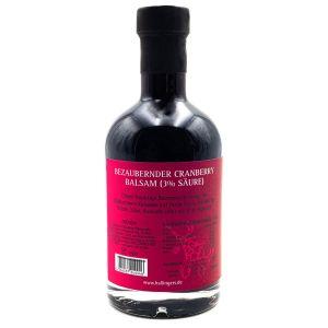Gourmet-Essig (350ml) - Bezaubernder Cranberry-Balsam (3% Säure) (Exklusivflasche)