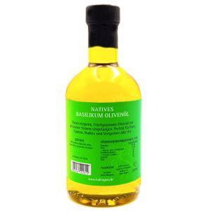 Premium Speise-Öl (350ml) - Natives Basilikum Olivenöl (Exklusivflasche)