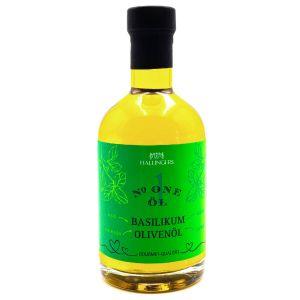 Feinstes Gourmet-Öl - Natives Basilikum Olivenöl - Geschenk für Sie und Ihn z.B. zum Grillen, Marinieren, Salate | Exklusivflasche | 350ml
