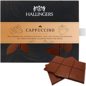 Vollmilch-Schokolade mit Cappucino hand-geschöpft (90g) - Cappucino (Tafel-Karton)
