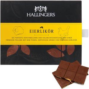 Vollmilch-Schokolade mit Eierlikör hand-geschöpft (90g) - Eierlikör (Tafel-Karton)
