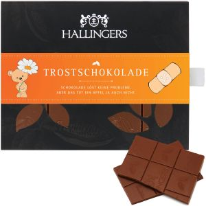 Vollmilch-Schokolade zart schmelzend hand-geschöpft (90g) - Trostschokolade (Tafel-Karton)