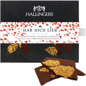 Tafel Hab Dich lieb, Vollmilch | Tafel-Karton | 90g