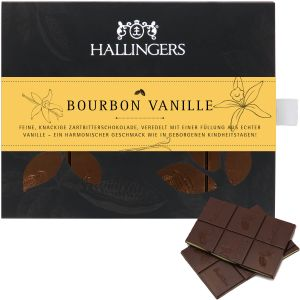 Zartbitter-Schokolade mit Bourbon-Vanille hand-geschöpft (90g) - Bourbon Vanille (Tafel-Karton)