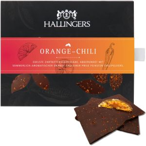 Tafel Orange-Chili, Zartbitter | Tafel-Karton | 90g