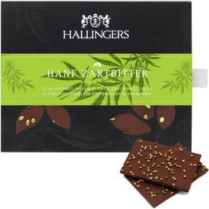 Zartbitter-Schokolade 85% hand-geschöpft (90g) - Hanf Zartbitter (Tafel-Karton)