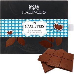 Vollmilch-Schokolade mit Cappuccino hand-geschöpft (90g) - Nachspeis (Tafel-Karton)