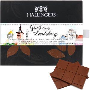 Vollmilch-Schokolade, zart schmelzend hand-geschöpft (90g) - Gruß aus Landsberg II (Tafel-Karton)