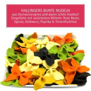 Bunte Nudeln im Mix (500g) - Hartweizengries, natürlich eingefärbt (Aromabeutel)