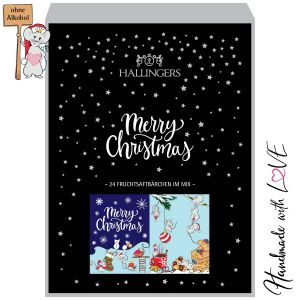 24 Gummibärchen-Adventskalender mit Fruchtsaftbärchen (500g) - Weihnachtskerzen (Buch-Karton)