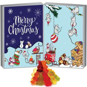 Adventskalender edler Fruchtsaftbärchenkalender Buch Weihnachtskerzen | DoubleKarton | 500g