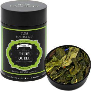 Grüner Tee / Grüntee - Ruhequell - loser Tee, ideal als Geschenk | Premiumdose | 80g