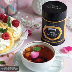 Loser Früchte-Tee mit Hibiskus, Papaya & Ananas (100g) - Glückseligkeit (Premiumdose)
