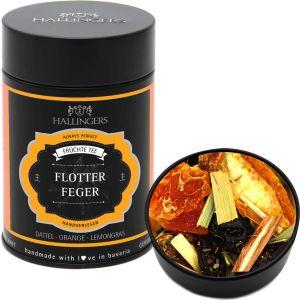 Loser Früchte-Tee mit Dattel, Orange & Lemongras (170g) - Flotter Feger (Premiumdose)