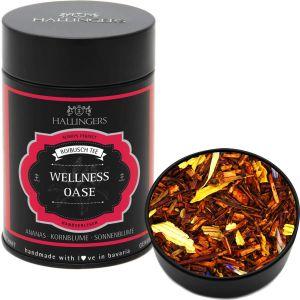 Roibusch Tee / Rooibostee - Wellness Oase - loser Tee, ideal als Geschenk | Premiumdose | 120g