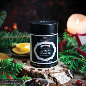 Loser Schwarz-Tee mit Mandel, Orange & Nelke (120g) - Adventsstimmung (Premiumdose)