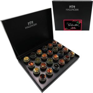 Adventskalender Teekalender Tee Advent 24, Black | Set/Mix | 24x Miniglas in Deluxe-Box | 240g
