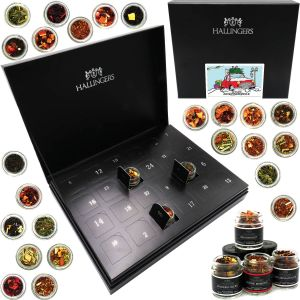 Adventskalender Teekalender Tee Deluxe 24 Advent HIDDEN, Black | Set/Mix | 24x Miniglas in Deluxe-Box | 240g