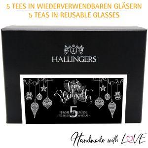 5er Weihnachts-Tee-Geschenk-Set (50g) - Frohe Weihnachten (MiniDeluxe-Box)
