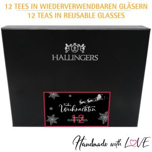 12er Tee-Geschenk-Set mit Tee aus aller Welt (120g) - Klassisches Tee-Set xMas (Design-Karton)