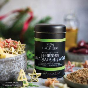 Gewürz-Mischung für Pasta, Schafskäse & Soßen (95g) - Feuriges Arrabiata-Gewürz (Aromadose)