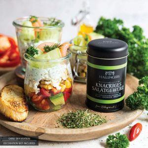 Gewürz-Mischung für Salate, Vorspeisen & Dressings (55g) - Knackiges Salatgewürz (Aromadose)