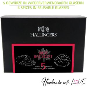5er Premium-Brot-Pimper als Geschenk-Set (65g) - Brot-Backlust (MiniDeluxe-Box)