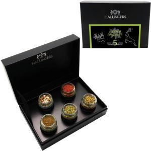 5er Premium-Grill-Gewürze als Geschenk-Set (70g) - Jäger und Sammler (MiniDeluxe-Box)