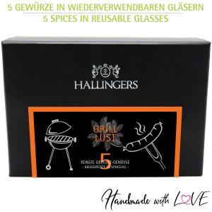 5er Premium-Grill-Gewürze als Geschenk-Set (95g) - Grilllust (MiniDeluxe-Box)