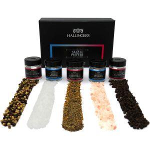 Gewürz-Set Salz und Pfeffer - Edition 2018 | Set/Mix | 5x Miniglas in MiniDeluxe-Box | 120g