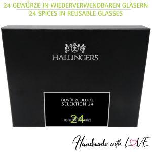 24er Gewürz-Geschenk-Set mit Gewürzen aus aller Welt (425g) - Gewürze Deluxe Selektion 24 (Deluxe-Box)