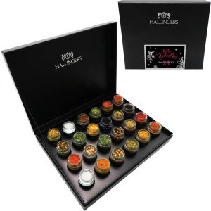Gewürz-Genüsse 24 Rainbow All I Want For Xmas Is You! LGBT Pride, Black | Set/Mix | 24x Miniglas in Deluxe-Box | 500g
