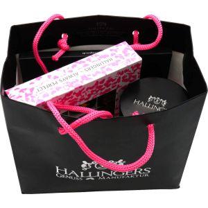 Muttertag Geschenk Set - 1 Schokolade, 9er Pralinen und 1 Tee (319g) - Muttertag Bag Pink (Genusstasche)